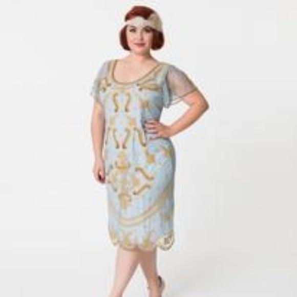 Vintage Style Plus Size Flapper Dress